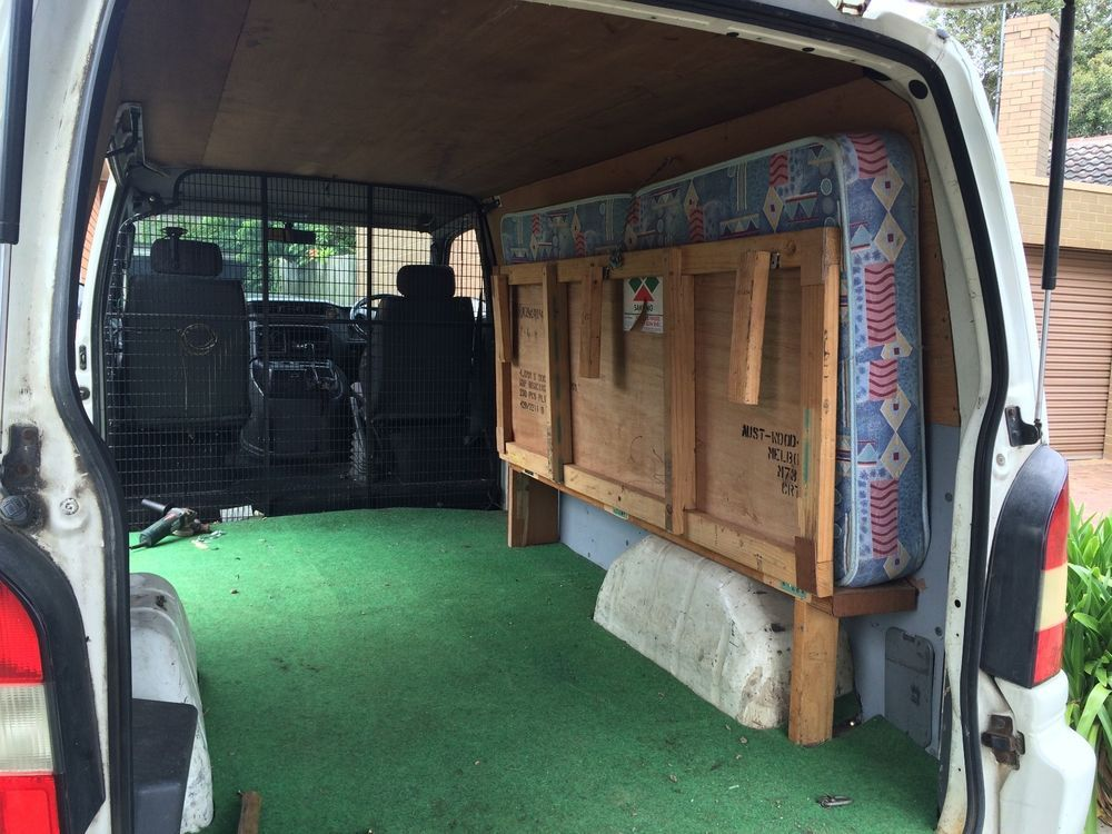 Custom made Foldable easy mount Camper van single bed