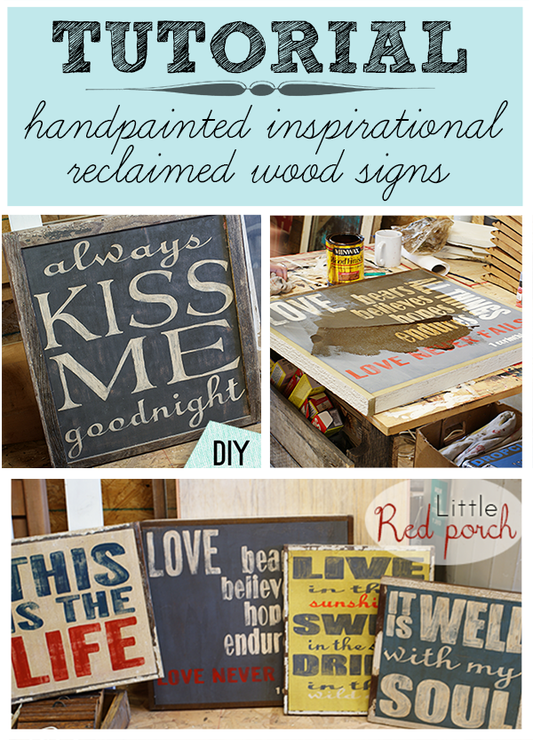 how to make wooden rustic signs