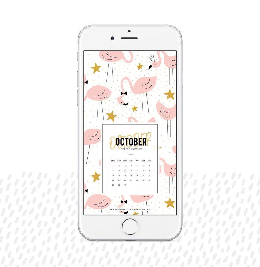⬇ Download your October 2018 Calendar #smartdevice