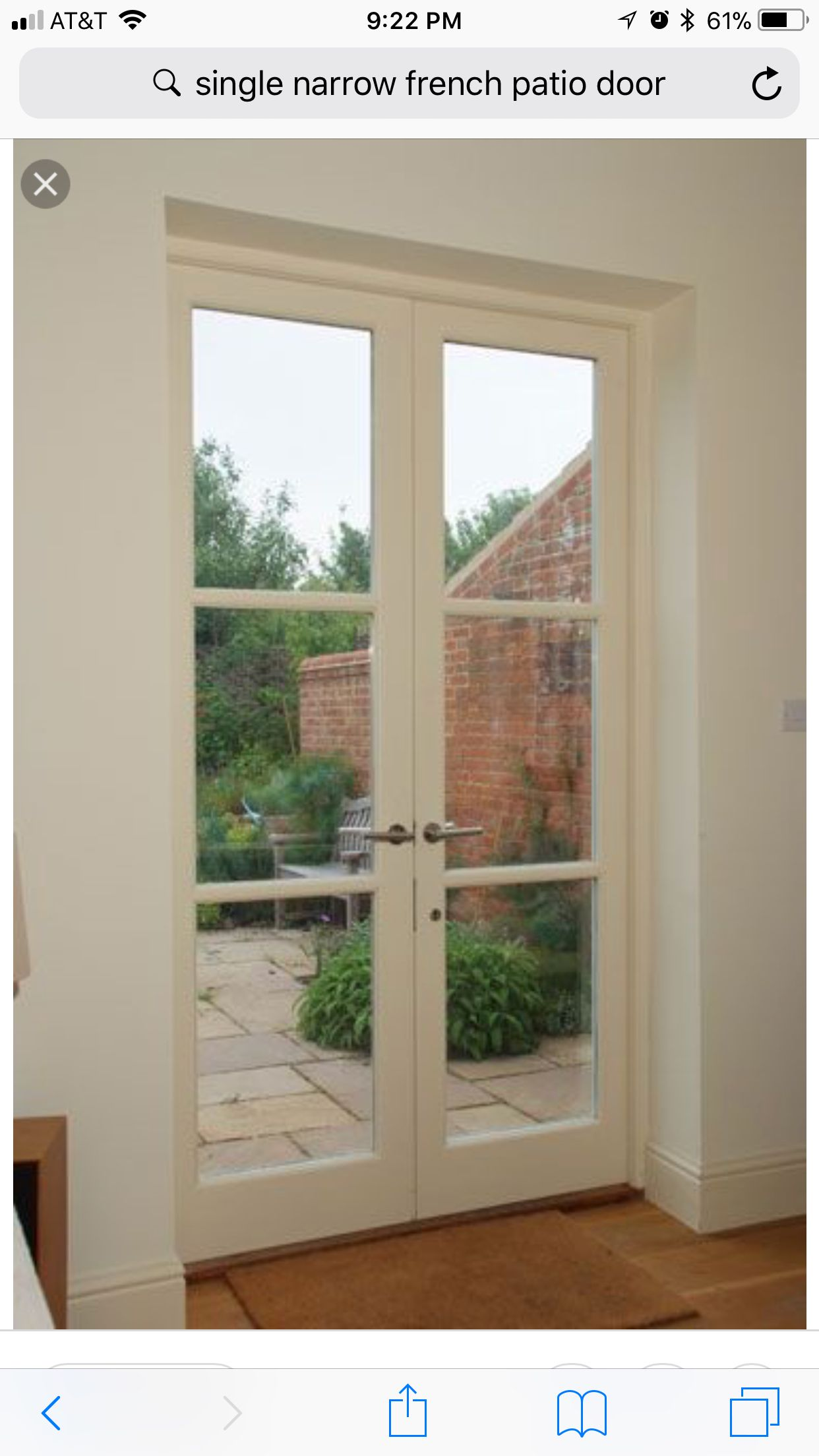 Glass Patio Doors With Horizontal Grid Lines Doors And Wood Trim