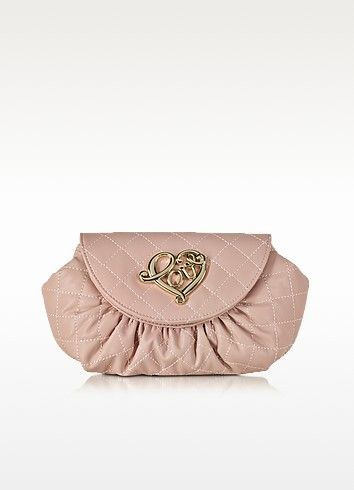 3369849850 LOVE MOSCHINO SMALL QUILTED POUCH. #lovemoschino #bags #shoulder bags  #leather #pouch #accessories #