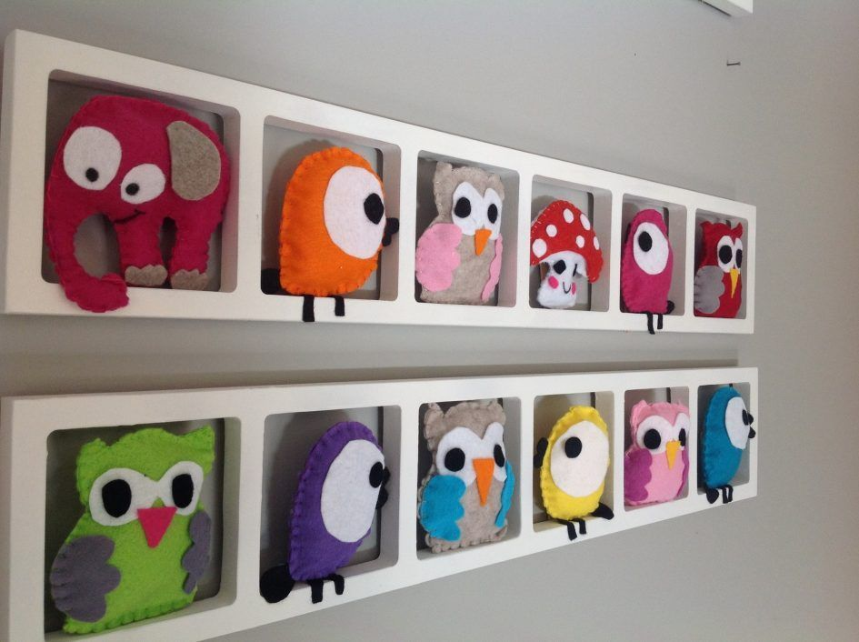 chambre, Idee Decoration Chambre Enfant Cadre Mural Animaux Colores