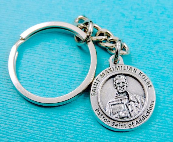 Addictions St Maximilian Kolbe Key Chain St Maximilian Kolbe Medal