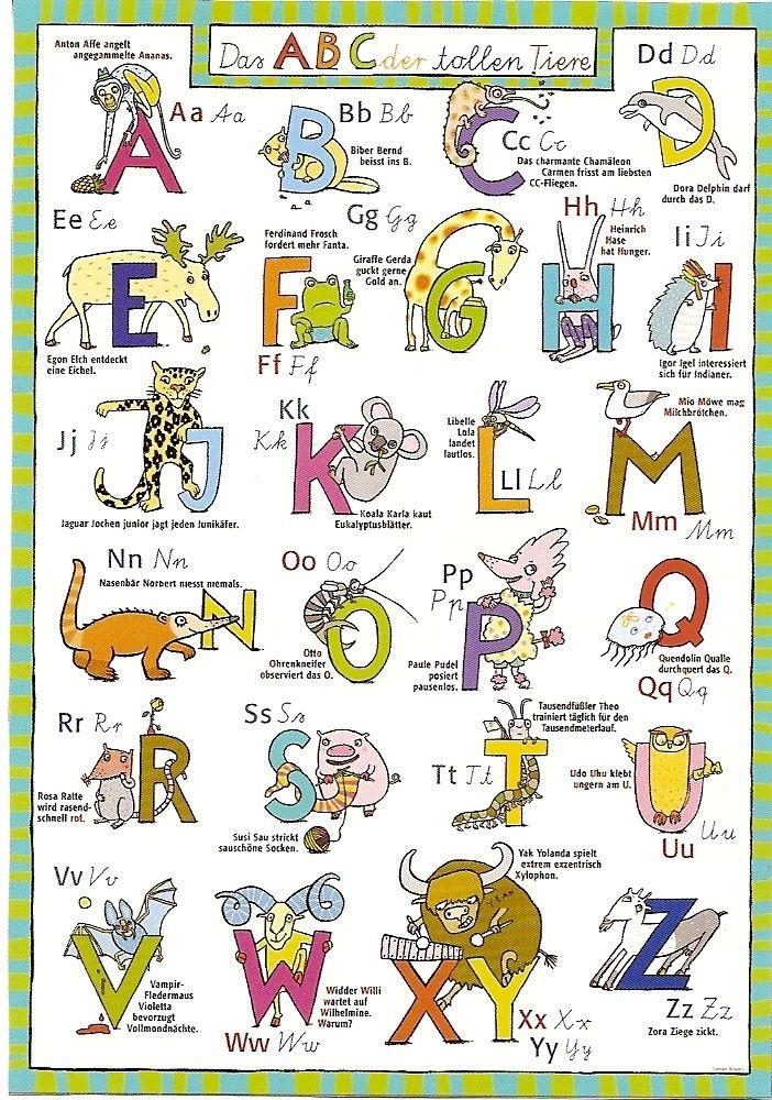ABC der Tiere im Schule Pinterest
