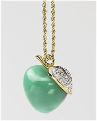 Mint kenneth jay lane green apple pendant necklace jewels mint kenneth jay lane green apple pendant necklace mozeypictures Image collections