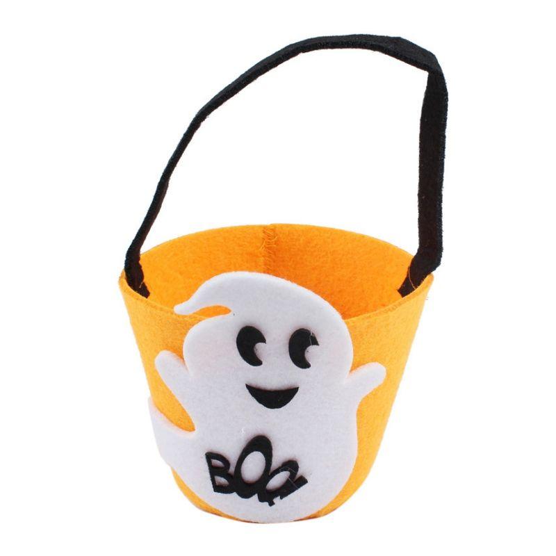 Kids Pumpkin Candy Bag Halloween Decoration Festival Supplies Smile - halloween decoration kids