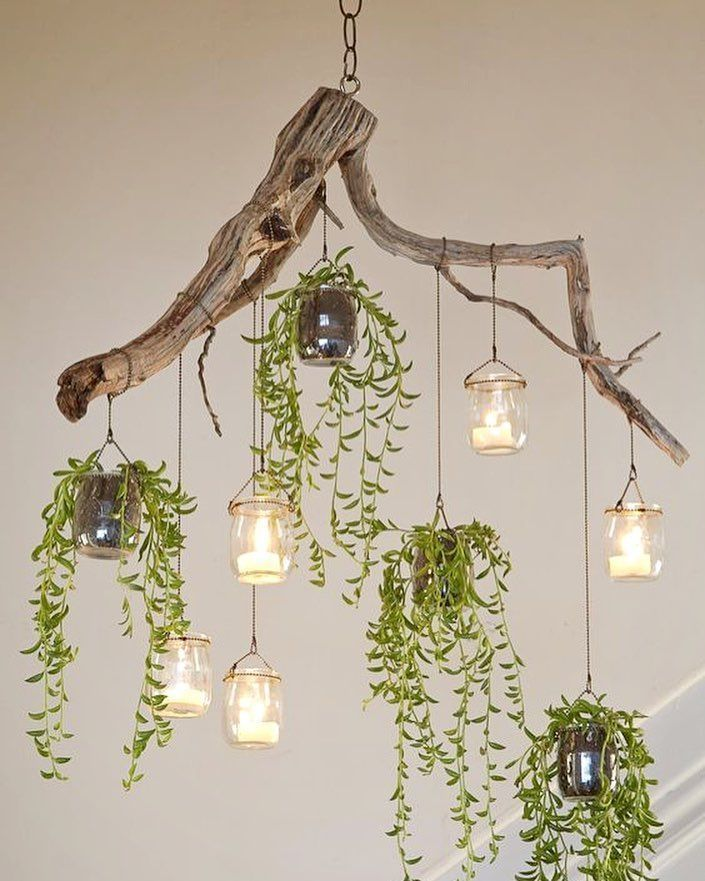 Photo of Beautiful green chandelier made of driftwood. , , #upcycle #upcycling #driftwood #chandeli… – UPCYCLING IDEAS