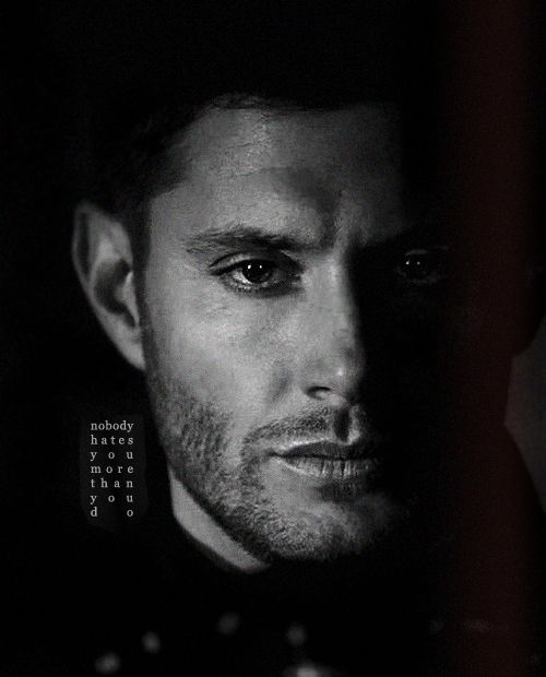 """""""Nobody hates you more than you do."""" 