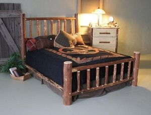 Pine Queen Mountain Log Bed Log Bedroom Furniture Interior