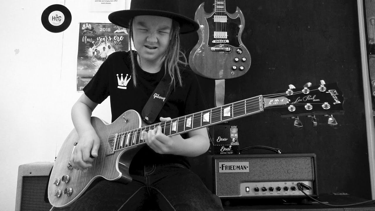 Still Got The Blues Youtube Cover By 9 Year Old Taj Farrant Gibson Les Paul 9 Year Olds Blues