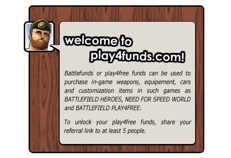 Livre Play4Free Funds | Compartilhar para desbloquear a sua fonte ilimitada de fundos Play4Free!