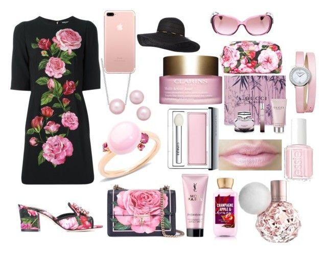 """Untitled #252"" by mselim ❤ liked on Polyvore featuring Dolce&Gabbana, Essie, Yves Saint Laurent, Gucci, Clinique, Clarins, Baume & Mercier, Pomellato and Coach"
