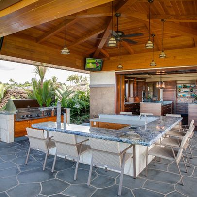 Tropical Patio Outdoor Kitchen Design Ideas Pictures Remodel And Enchanting Patio Kitchens Design Inspiration Design