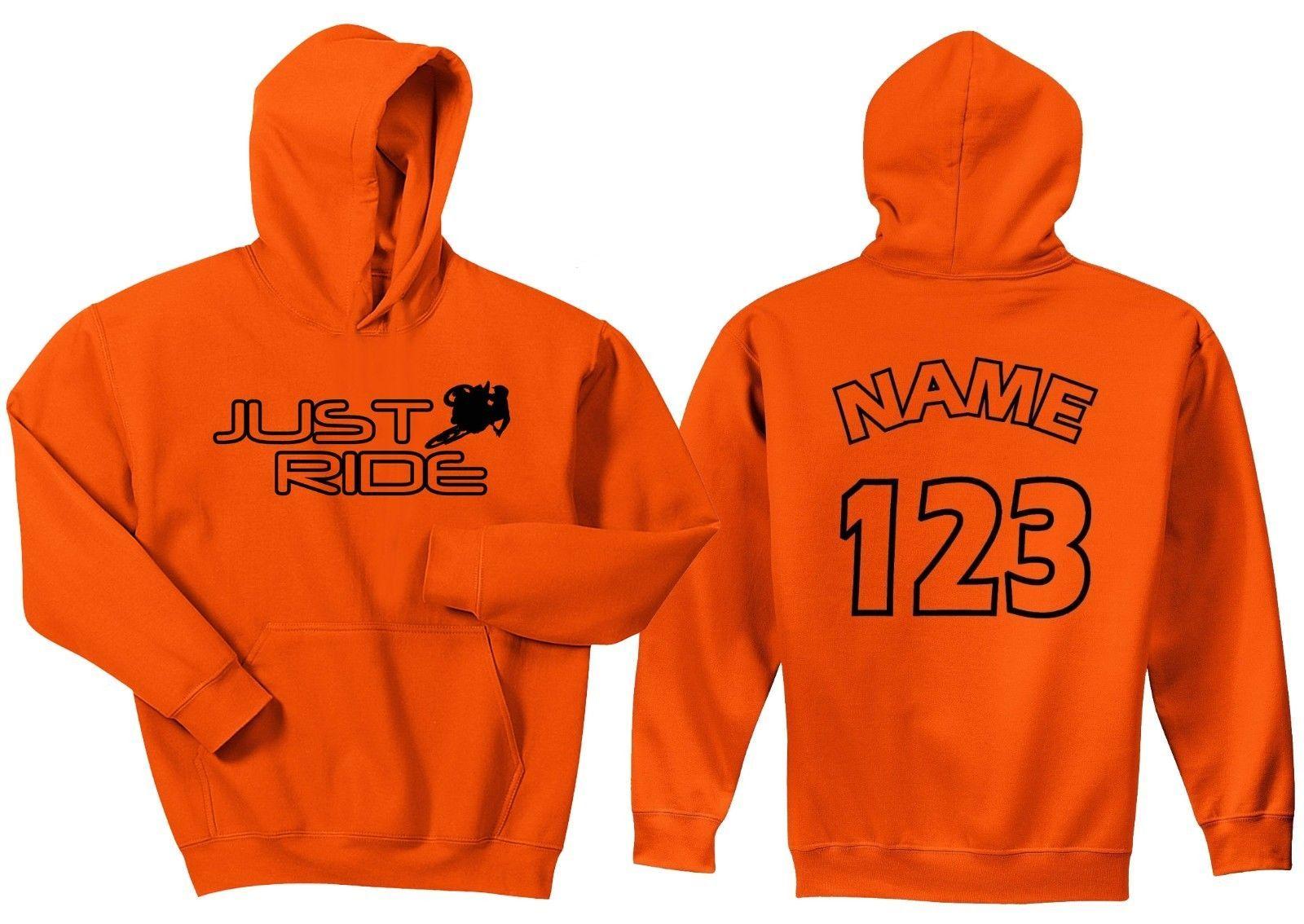 Just Ride Motocross Orange Hoodie Sweat Shirt Mx Race Dirt Bike Number Plate Ktm Ebay Sweatshirts Hoodies Sweatshirts Hoodie