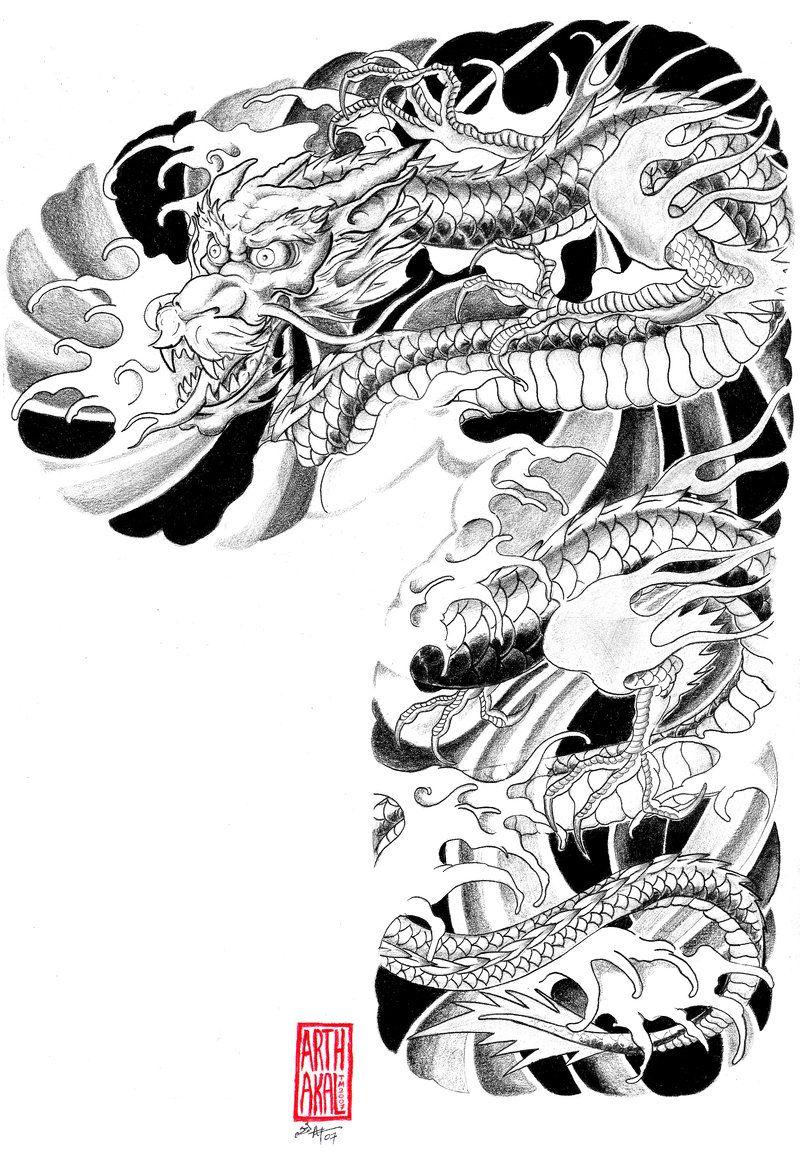 dragon sleeve design Dragon sleeve, Tattoo templates