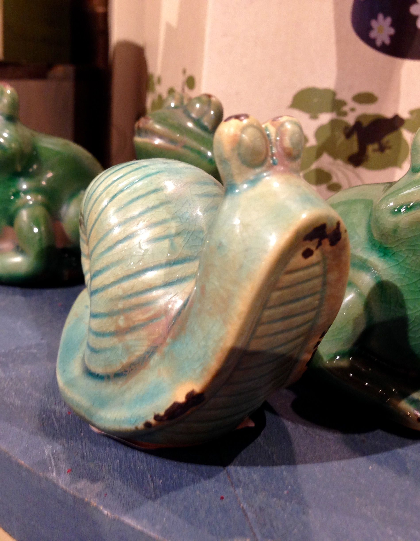 Little Ceramic Garden/Flower Pot Snail/Cracker Barrel Old