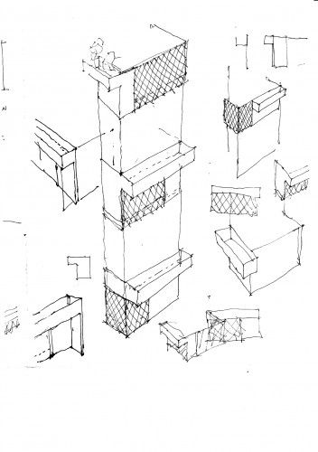 Muurikuja 1 Housing / ARK-house Architects Drawing  Sketching