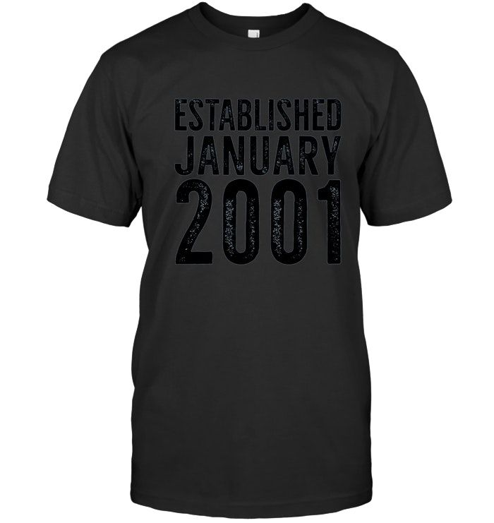 January 2001 17th Birthday T Shirt Gift For a 17 Year Old #17thbirthday