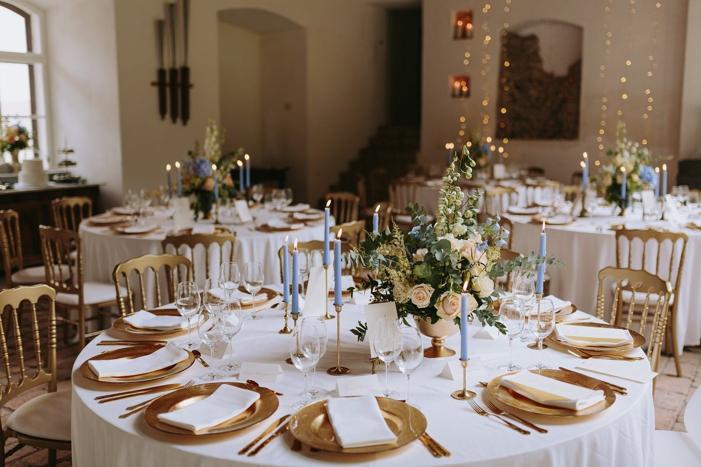 Pastel blue wedding decor  Something Blue Wedding Planned by A Very Beloved Wedding  Reception