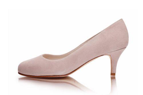 3268df89a97b Pink suede wide fit court shoe - Sargasso   Grey