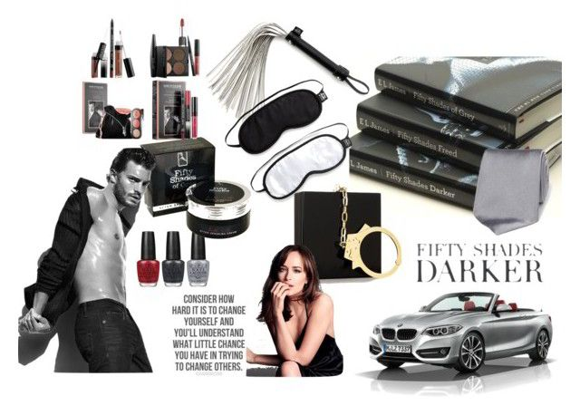 Fifty Shades Darker by ilovepartystyle on Polyvore featuring polyvore, fashion, style, MAKE UP FOR EVER, BMW, Charlotte Olympia and clothing