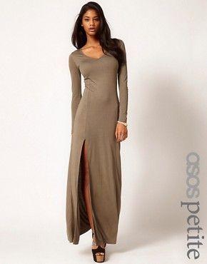 Maxi robe noire manches longues