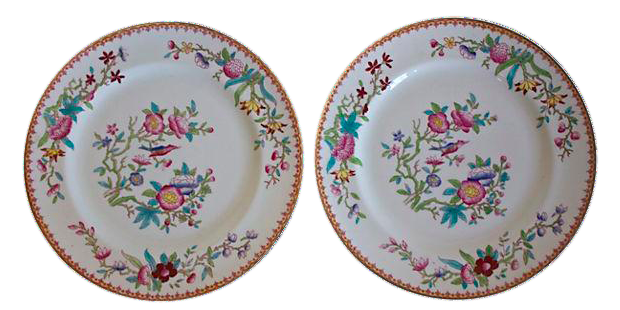Royal Doulton Chinoiserie Plates - A Pair on Chairish.com