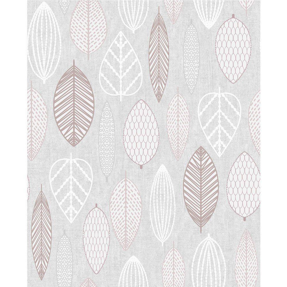 Superfresco Wallpaper Scandi Leaf Blush Wilko Pink Removable Wallpaper Leaf Wallpaper Pink Wallpaper