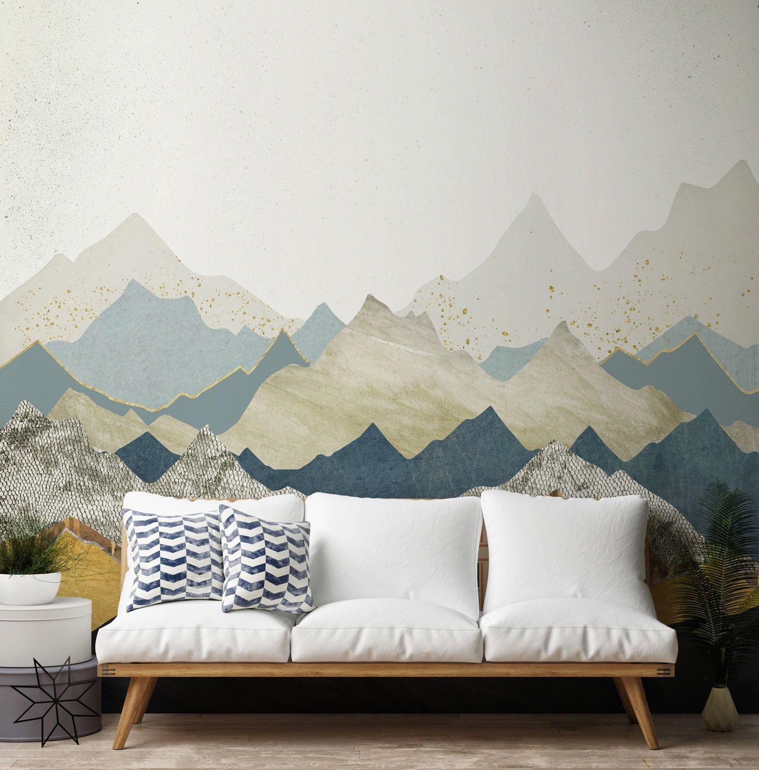 Distant Peaks Wallpaper Wallsauce Nz Wallpaper Living Room World Of Interiors View Wallpaper