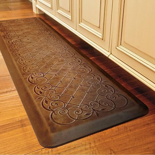 Trellis Scroll Anti-fatigue Kitchen Comfort Mat | Kitchen ...