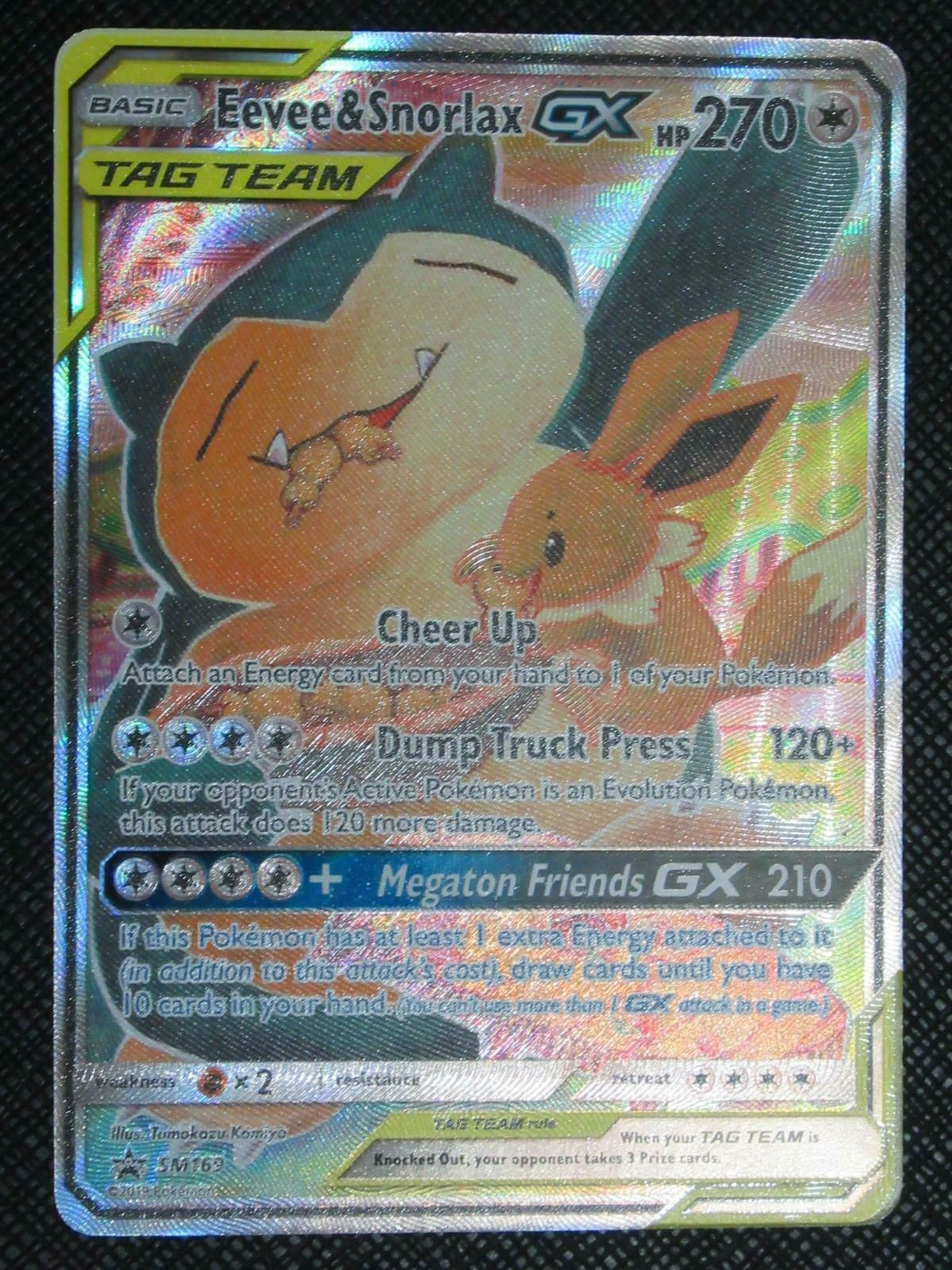 NM 1 Pokémon Snorlax Card Black Star From Promo Series