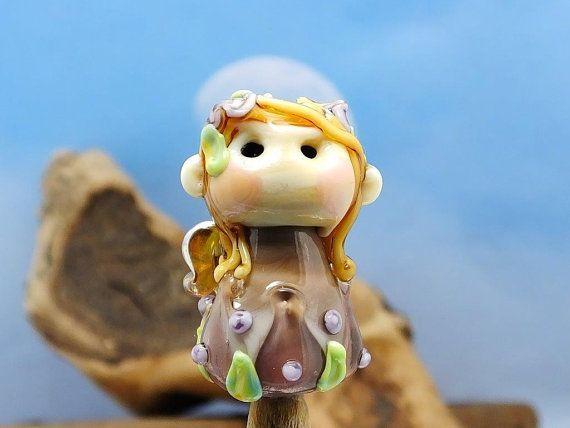 Joy..... lampwork pixie bead... sra by DeniseAnnette on Etsy, $24.00