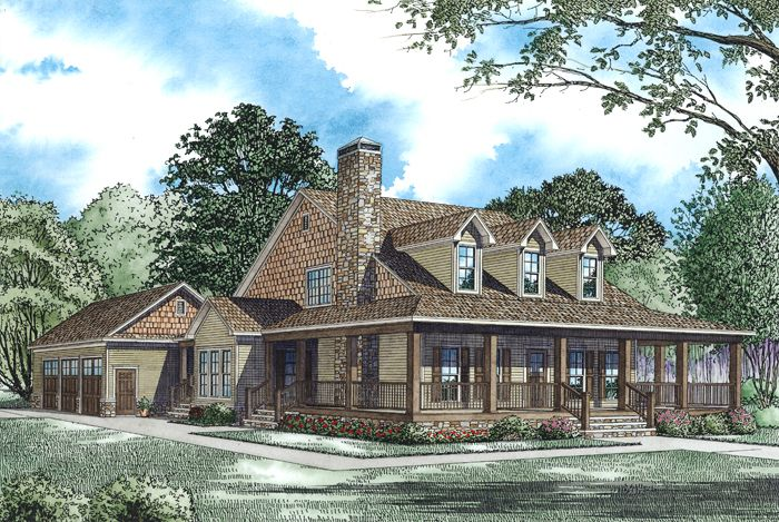 Plan 60586ND: Wonderful Wraparound and Options | Traditional house ...