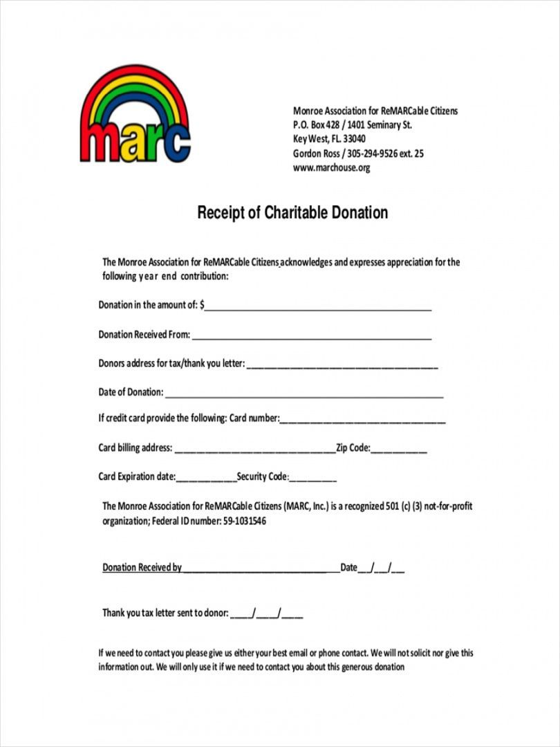 Free Donation Tax Receipt Template Google Docs