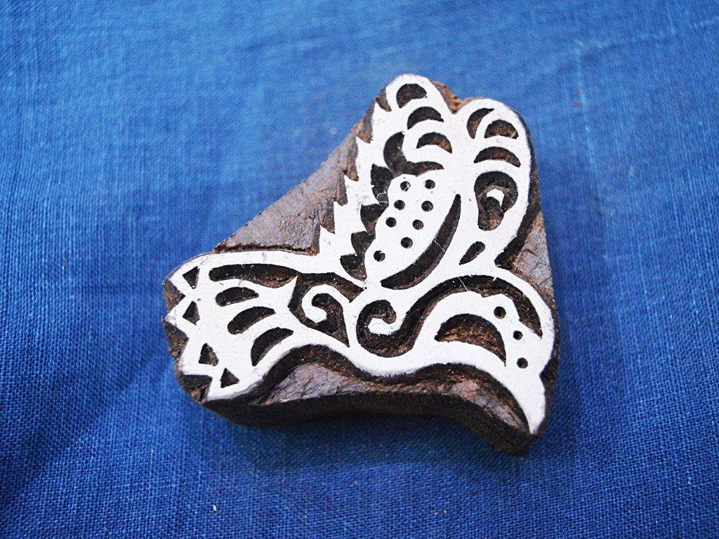 Hand Carved Indian Wood Block - Hummingbirds Wooden Stamp -Textile Stamps - Fabric Stamp - Textile Printing Block, Stamp Blocks #fabricstamping