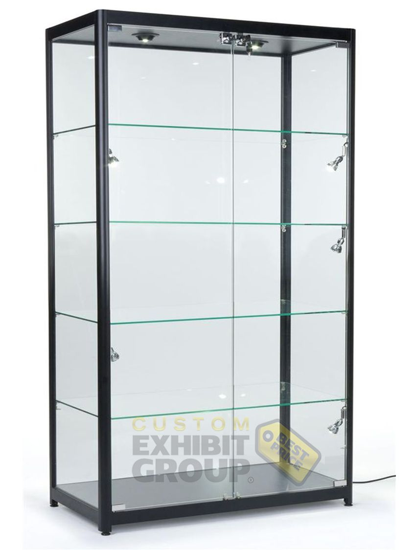 Tall Showcases To Display Trophies Or Important Artifacts Customexhibitgroup Showcases Custom Display Case Glass Showcase Glass Display Case