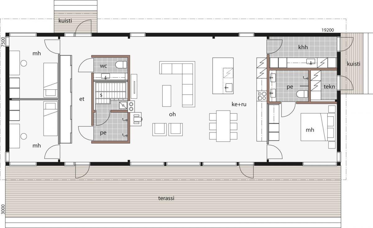 Glass House Taloissa Avaruutta Ja Nakymia Luova Lasi Seka Hyvinvointia Edistava Hirsi Tayden Affordable House Plans Contemporary House Plans Small House Plans