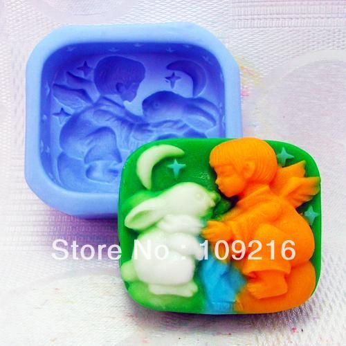 Aliexpress.com : Buy Free shipping!!!1pcs  Angel and Rabbit (H0077) Silicone Handmade Soap Mold Crafts DIY Mold from Reliable Silicone Soap Mold suppliers on Silicone DIY Mold and  Home Supplies Store $15.58