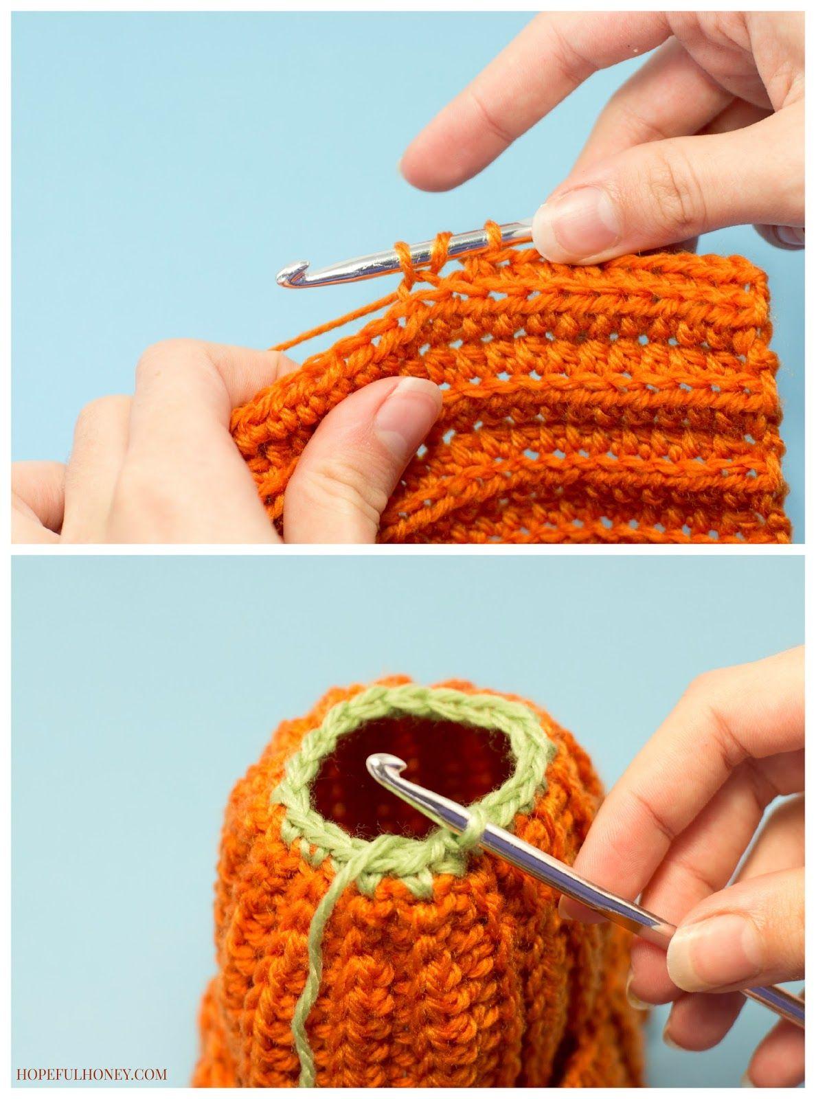 08e77049a61 Newborn Pumpkin Hat Crochet Pattern