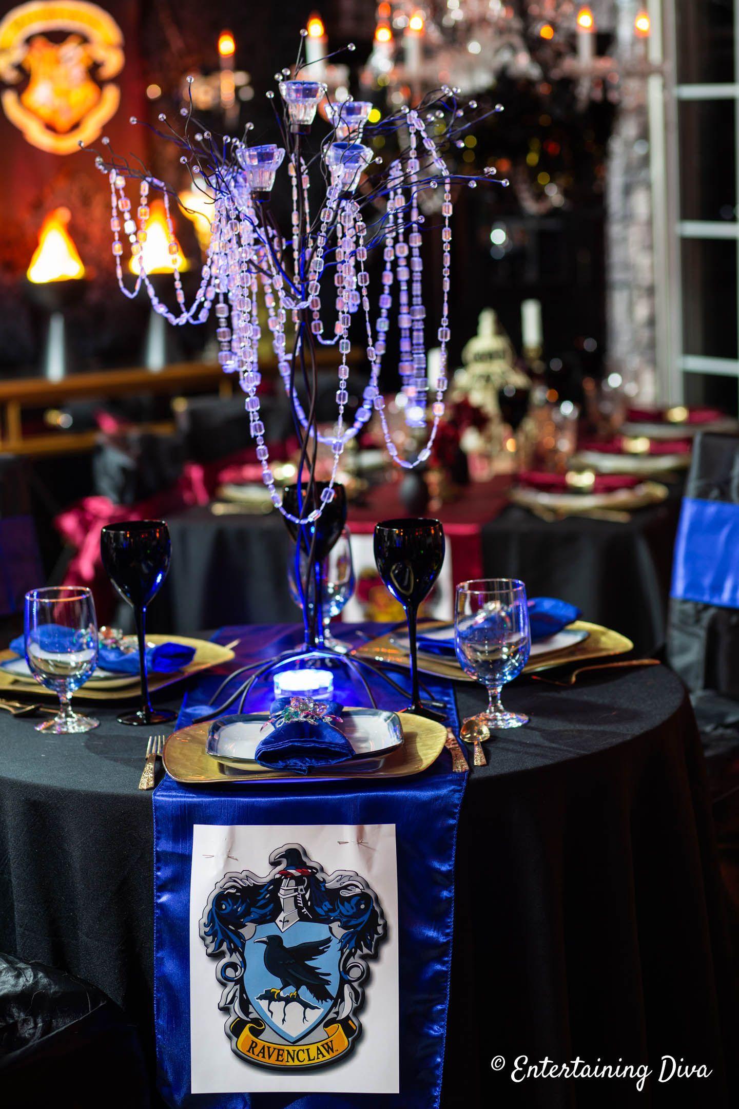 Harry Potter Table Decor Ideas Entertaining Diva From House To Home Harry Potter Table Harry Potter Party Harry Potter Decor