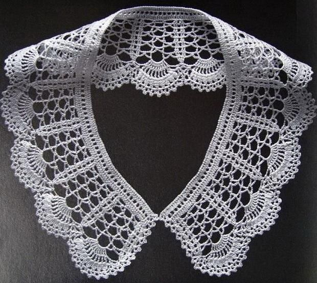 Stylish Easy Crochet Crochet Women Peter Pan Collar Free Crochet Pattern Crochet Collar Pattern Crochet Lace Collar Womens Crochet Patterns