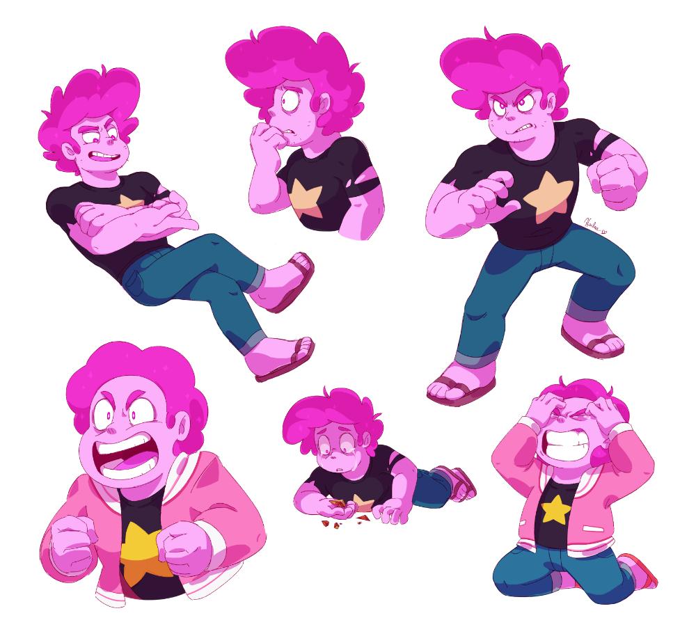 Pink Steven Sketches By Heilos On Deviantart Steven Universe Fanart Steven Universe Comic Steven Universe Memes