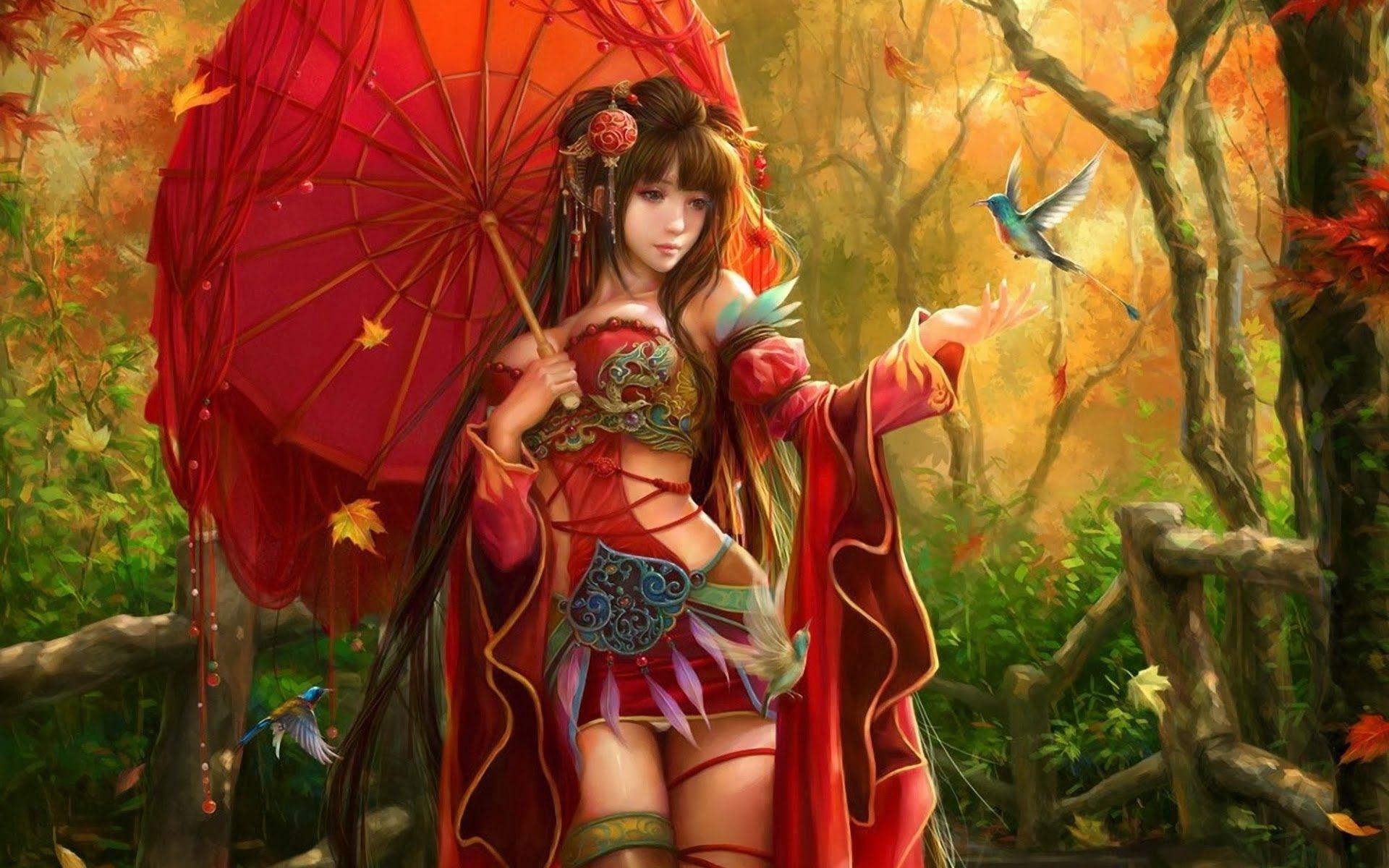 Girls With Umbrella Hd Wallpapers Hd Wallpapers Inn Trends for art wallpaper hd for girls