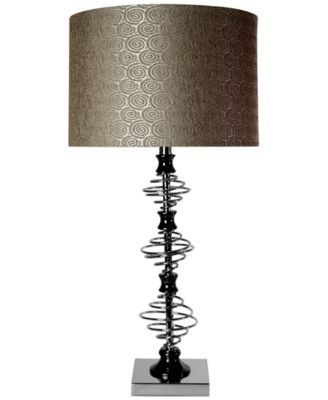 Stylecraft orbital chrome and black nickel designed table lamp macys com bedroom makeover pinterest design table and bedrooms