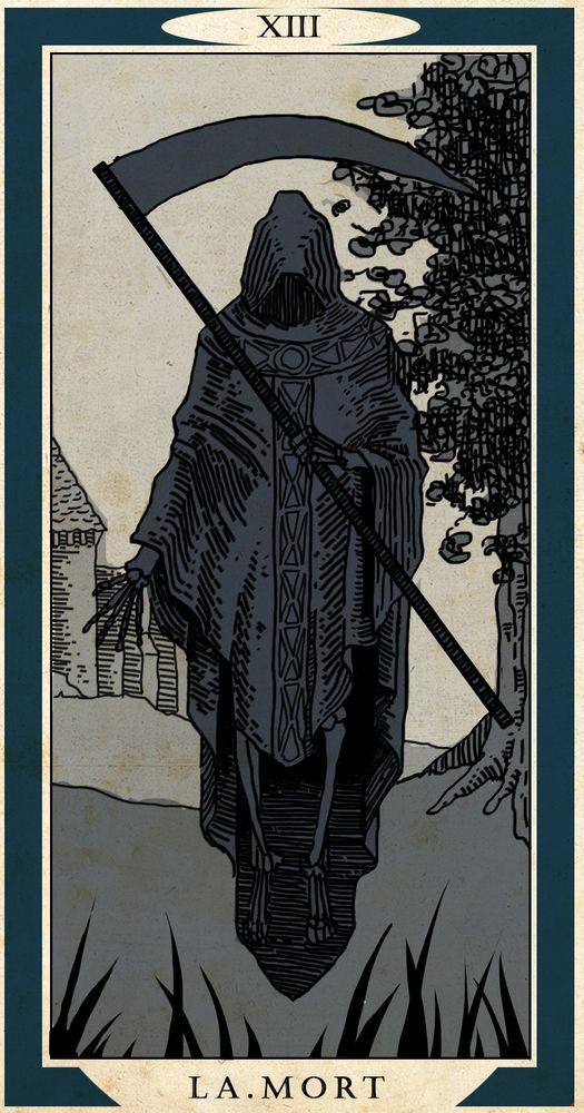 The Grim Reaper Art Print by Hugo Gravel - X-Small