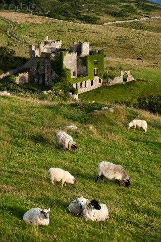 Republic of Ireland, Galway County, Connemara, castle at Clifden. La cancion de los maories de Sarah Lark