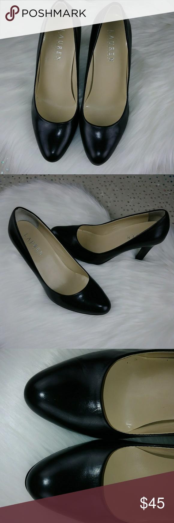 5530dbae62 Lauren RL Soft Black Leather