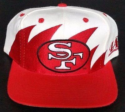 3629a85d2a6c6 ... usa san francisco 49ers vintage snapback logo athletic sharktooth hat  nfl pro line 8f663 fd6e5 ...