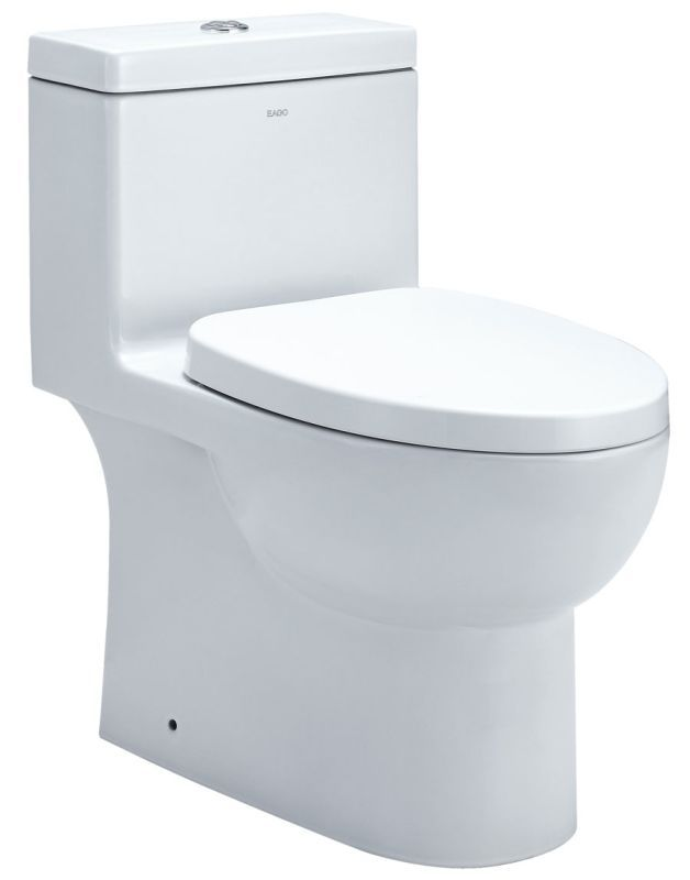 Eago Tb359 White 1 6 0 8 Gpf One Piece Elongated Toilet With Seat One Piece Toilets Cheap Bathroom Remodel Eago