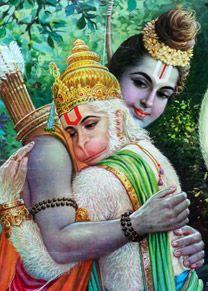 Ram and his ever-faithful and loving devotee, Hanuman ...